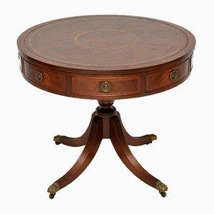 Mesa vintage de cuero y caoba