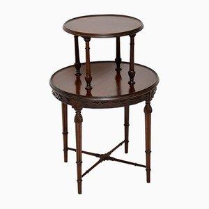 Zweistufiger antiker Tisch aus Mahagoni