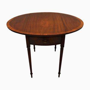 Vintage Regency Style Mahogany Pembroke Drop Leaf Table