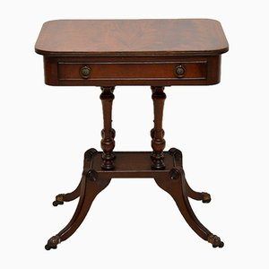 Vintage Regency Style Mahogany Side Table