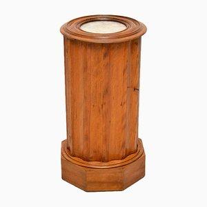 Antique Victorian Satin Wood Marble Top Pot Cupboard