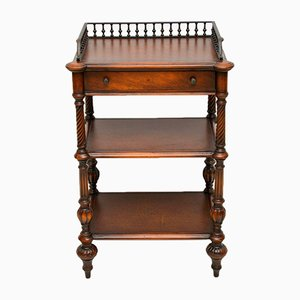 Vintage Victorian Style Mahogany and Leather Buffet