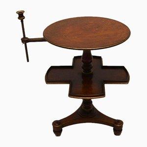 Table d'Appoint Victorienne Antique en Noyer