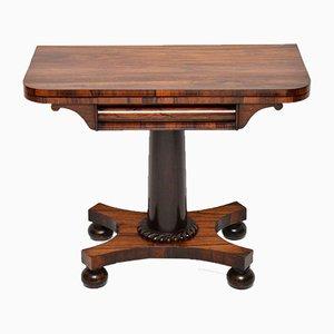 Table pour Jeux de Cartes William IV Antique en Palissandre
