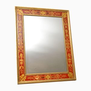 Vintage Lacquered & Gilt Wood Mirror