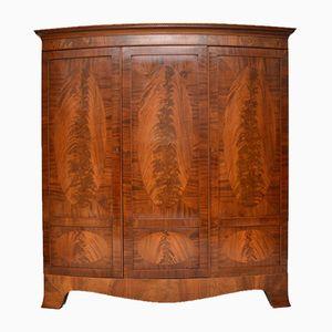 Antique Edwardian Inlaid Mahogany Wardrobe