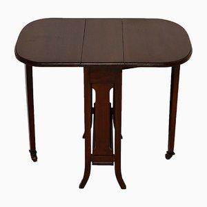 Petite Table Antique Sutherland à Abattant en Acajou