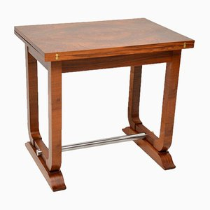 Art Deco Walnut Card or Side Table, 1920s