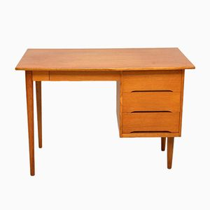 Vintage Danish Oak Desk, 1950s