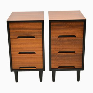 Walnut Bedside Chests by John & Sylvia Reid for Stag, 1950s, Set of 2