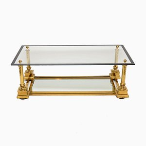 Vintage French Brass Coffee Table from Maison Charles, 1950s