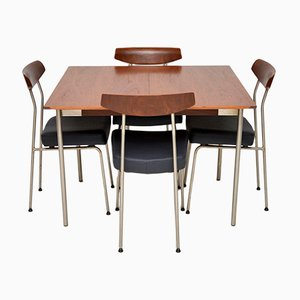 Vintage Teak Set with Dining Table & 4 Chairs by John & Sylvia Reid for Stag, 1950s