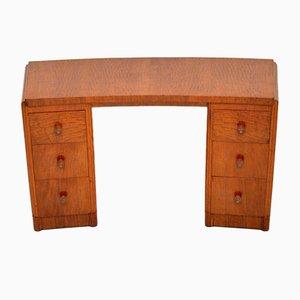 Vintage Walnut Pedestal Desk, 1950s