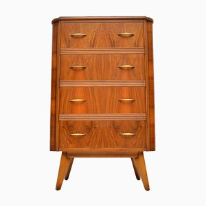 Walnut Tallboy Chest of Drawers from Homeworthy, 1950s