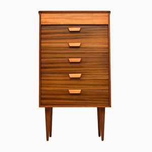 Vintage Walnut Chest of Drawers from Uniflex, 1950s
