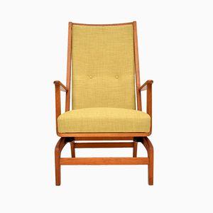 Danish Oak Rocking Chair, 1960s