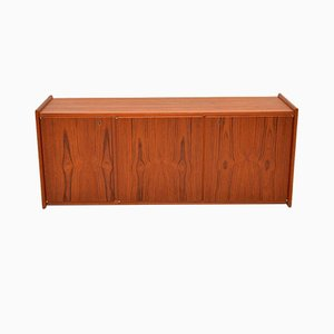 Danish Teak Wall Mounted Sideboard, 1960s