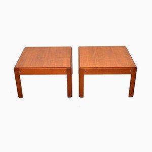 Tables d'Appoint Vintage en Teck par Illum Wikkelso, Danemark, 1960s, Set de 2