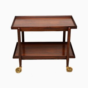Vintage Danish Rosewood Drinks Trolley, 1960s