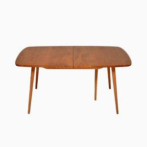 Großer Windsor Esstisch aus Ulmenholz von Ercol, 1960er