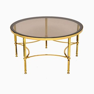 Vintage French Brass & Glass Coffee Table, 1960s