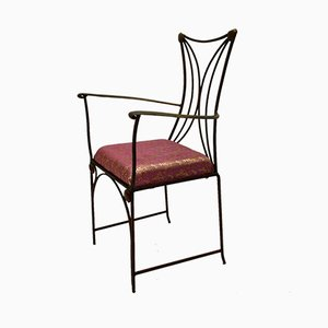 Vintage Armlehnstuhl aus Eisen & Messing, 1960er