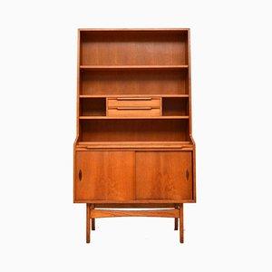 Vintage Teak Bookcase Cabinet, 1960s