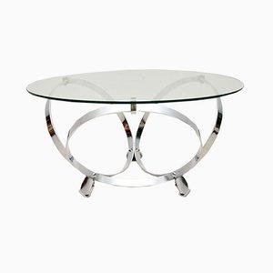 Table Basse en Chrome et Verre par Knut Hesterberg, 1970s
