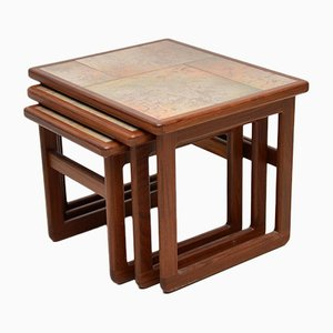 Vintage Danish Teak Nesting Tables, 1970s