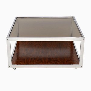 Vintage Rosewood & Chrome Coffee Table from Howard Miller Associates, 1970s