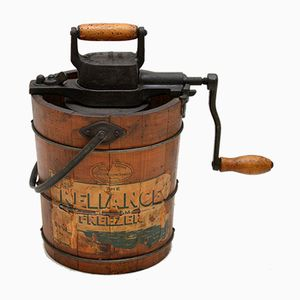 Antique Swedish Reliance Ice Cream Churner from Husqvarna
