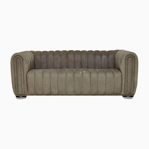 Antique Nubuck Leather 1910 Club Sofa by Josef Hoffmann for Wittmann