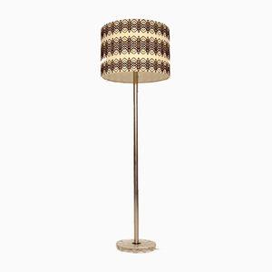Scandinavian Chrome & Glass Floor Lamp, 1960s