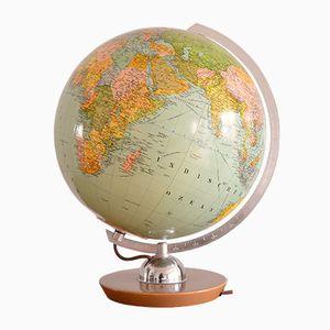 Beleuchteter Globus aus Glas von JRO München, 1950er