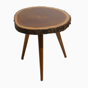 Mahogany Tree Trunk Slice Side Tables, 1952, Set of 2
