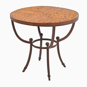 French Art Deco Rustic Side Table, 1920s