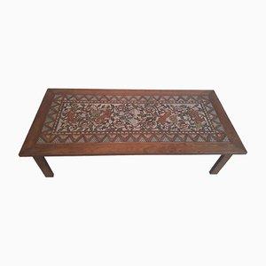 Table Basse Antique en Céramique Peinte à la Main de Paterna Maiolica d'Art