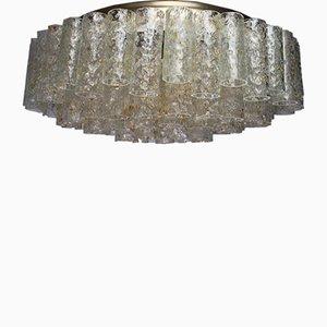 Lámpara de araña Mid-Century con tubos de vidrio de Doria Leuchten, años 60