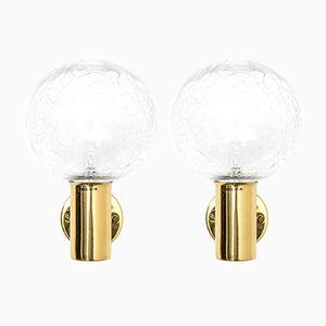 Scandinavian Modern Brass Model V-149 Wall Lamps by Hans-Agne Jakobsson, 1960s, Set of 2