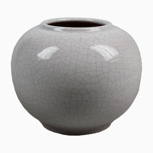 Craqueled Glaze Vase from Karlsruher Majolika, 1950s