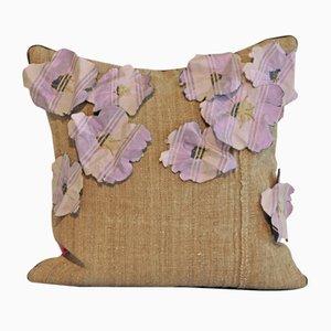 Giardino Fiori Lilla su Sacco Cushion from GAIADIPAOLA