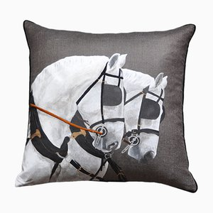 Royal Horses Due Cushion from GAIADIPAOLA