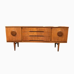 Mid-Century Teak Bow Fronted Sideboard by 17 Patterns for Beautility, 1960s