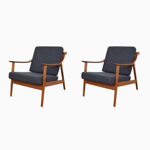 Lounge Chairs by Arne Hovmand Olsen for Mogens Kold, 1950s, Set of 2