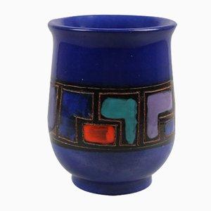 Vetrata Vase von Aldo Londi für Bitossi, 1950er