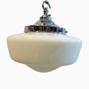 Art Deco Deckenlampe aus Opalglas