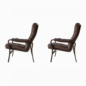 Mid-Century Danish Lounge Chairs, 1970s, Set of 2