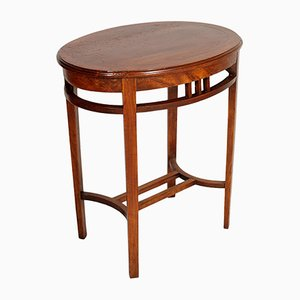 Oval Walnut Occasional Table by Josef Hoffmann for Wiener Werkstätte, 1910s
