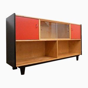 Zweifarbiges Bücherregal aus Holz von WK Möbel, 1950er