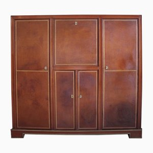 Mahogany and Leather Drinks Cabinet, 1960s